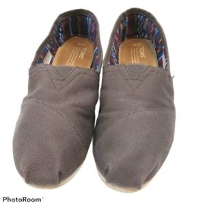 Toms Classic Taupe Casual Slip-on Shoes sz 10